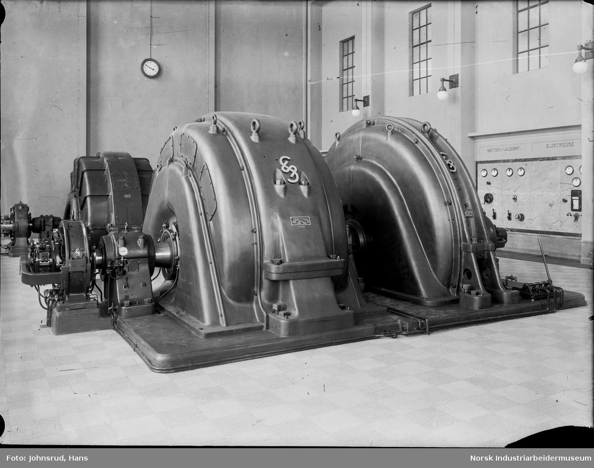 Maskinhall, Simens - Schuckert turbin