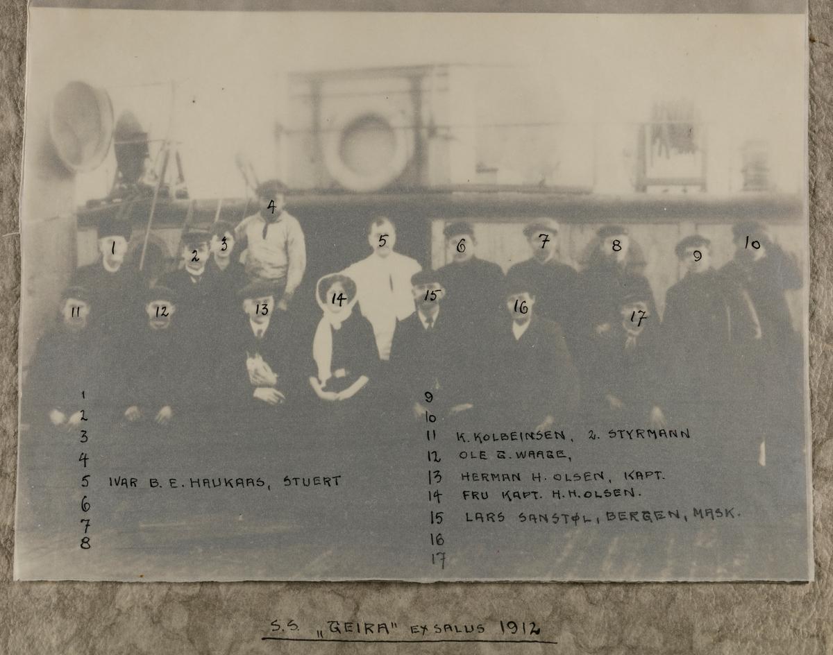 "Mannskapsbilde - S/S ""Geira"" 1912"