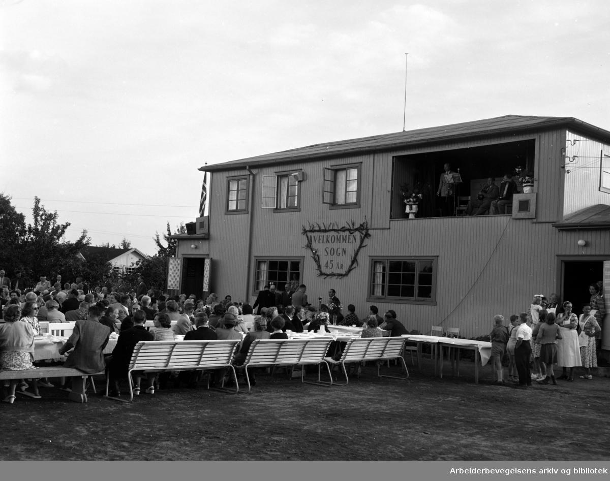 Sogn Kolonihage 45 år. August 1954