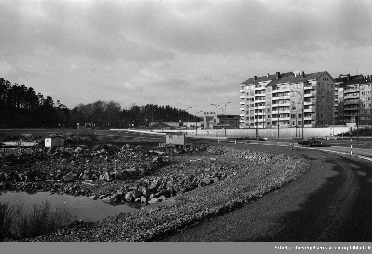 Sjølystveien. Strandpromenaden. Februar 1964