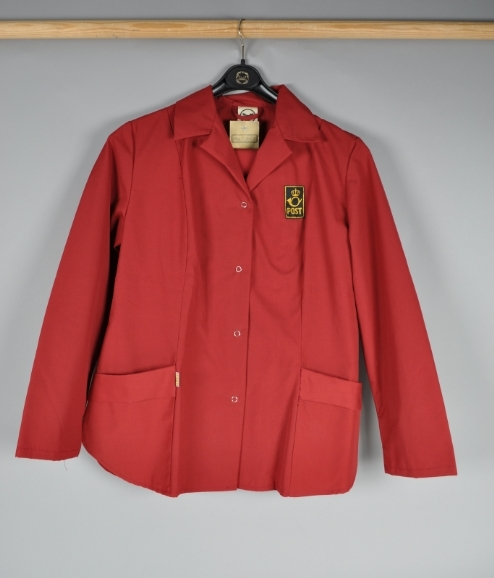 Arbeidsuniform, dame.. Bukse og jakke med lommer. Størrelse 38.