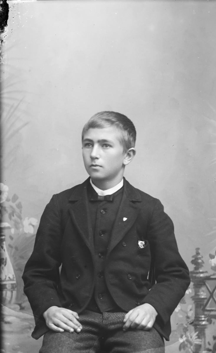Portrett av ung gutt nevnt som Ole I. Sletten Mæhlum