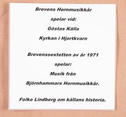 Brevens Hornmusikkår spelar vid Gösta källa
