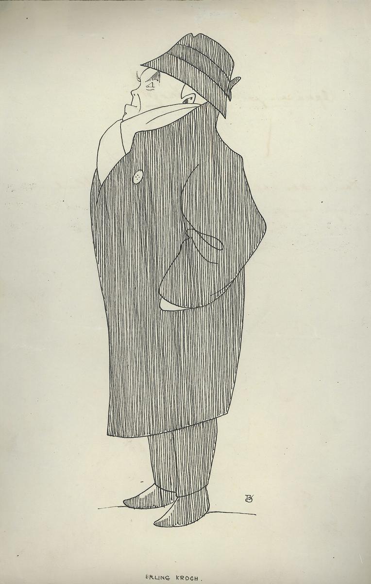 karikatur, mann, helfigur