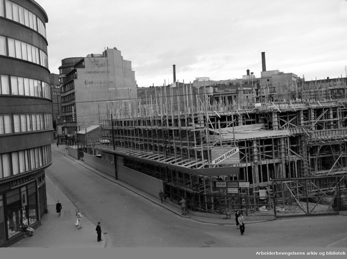 Viking Hotell under bygging. 1950 - 1952