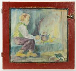 maleri på skapdør