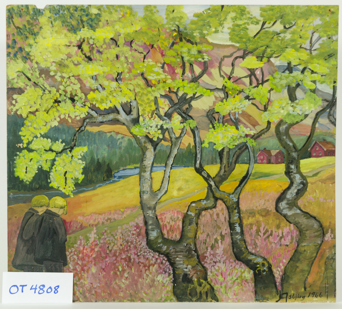 påført: 1966.  maleri på plate.