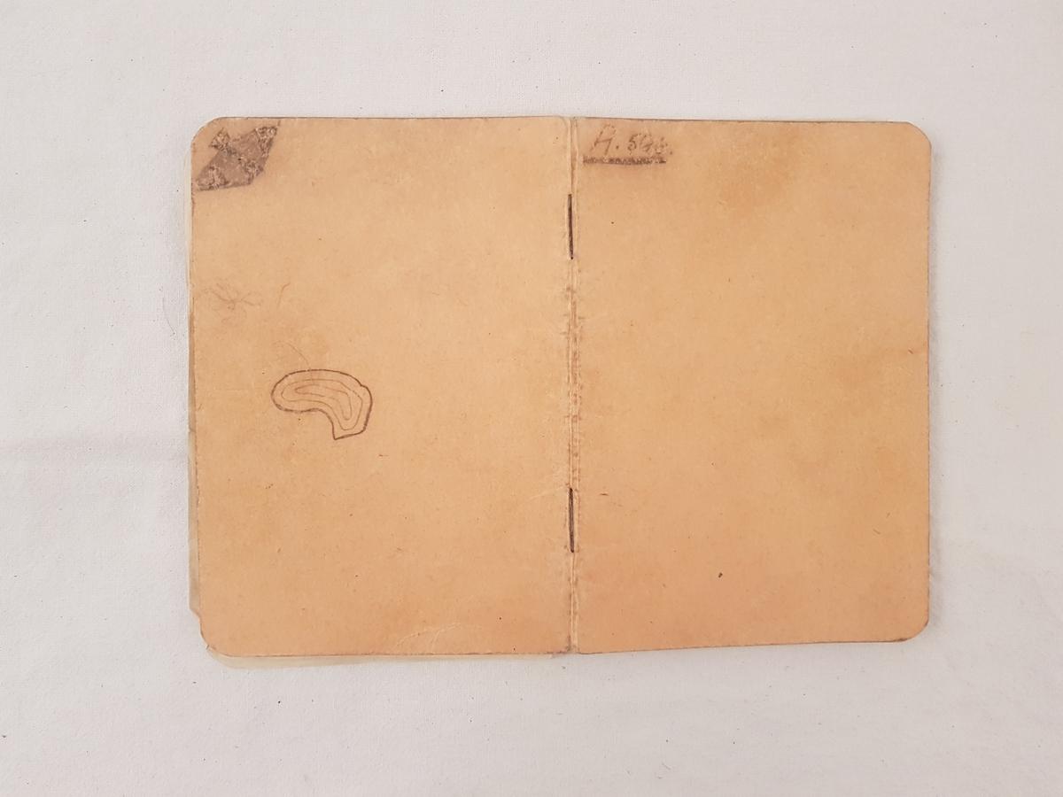 Nottboken har tilhørt Harral Risnes.