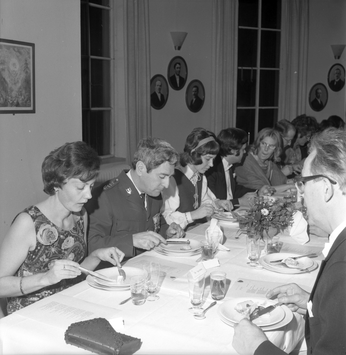 Alvenhags bröllop med bröllopsfest. Den 29 december 1972