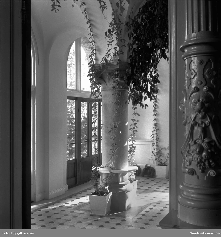 Interiör från blomsterrummet i Merlo slott.
