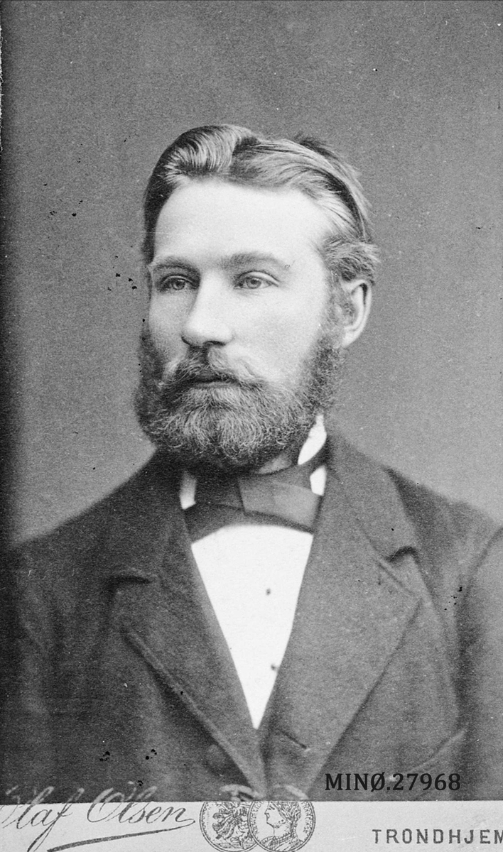 Portrett av mann - Jens Tollefsen Bjøntegård, født 1856, død ca. 1910