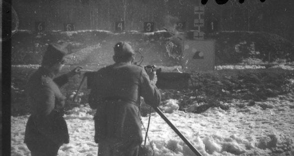 Luftvärnskulspruta m/1936. Skjutbanan vid Ekhagen, A 6.