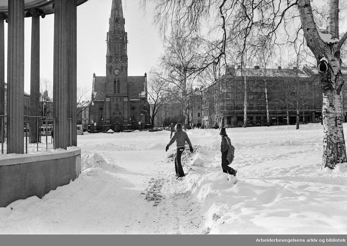 Paulus Kirken. Februar 1978