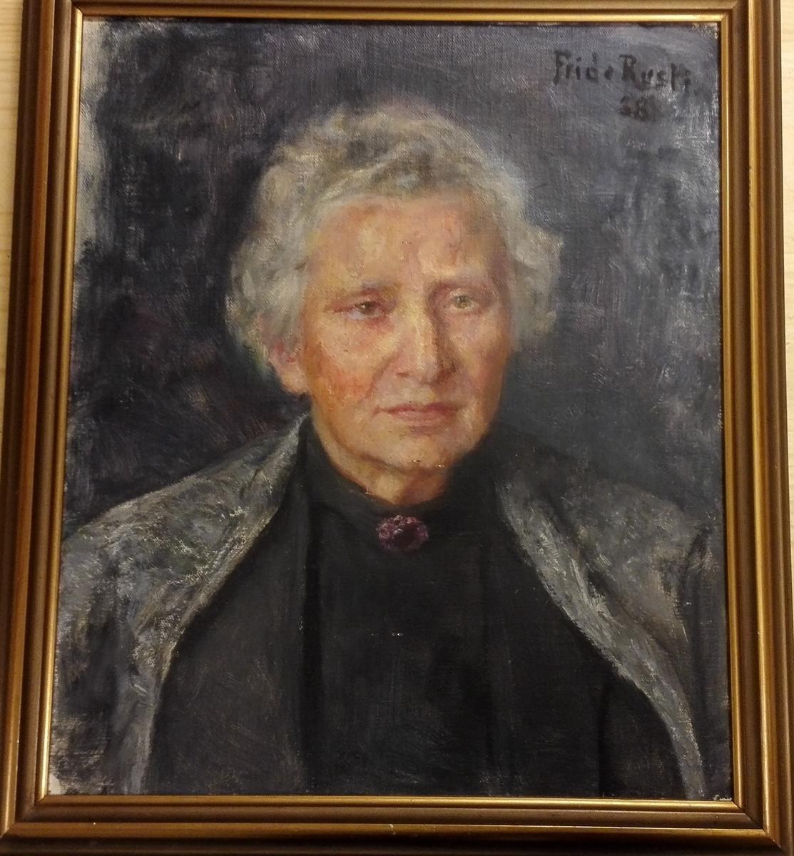 Portrett av fru Anna Rusten, mor til gjevaren.