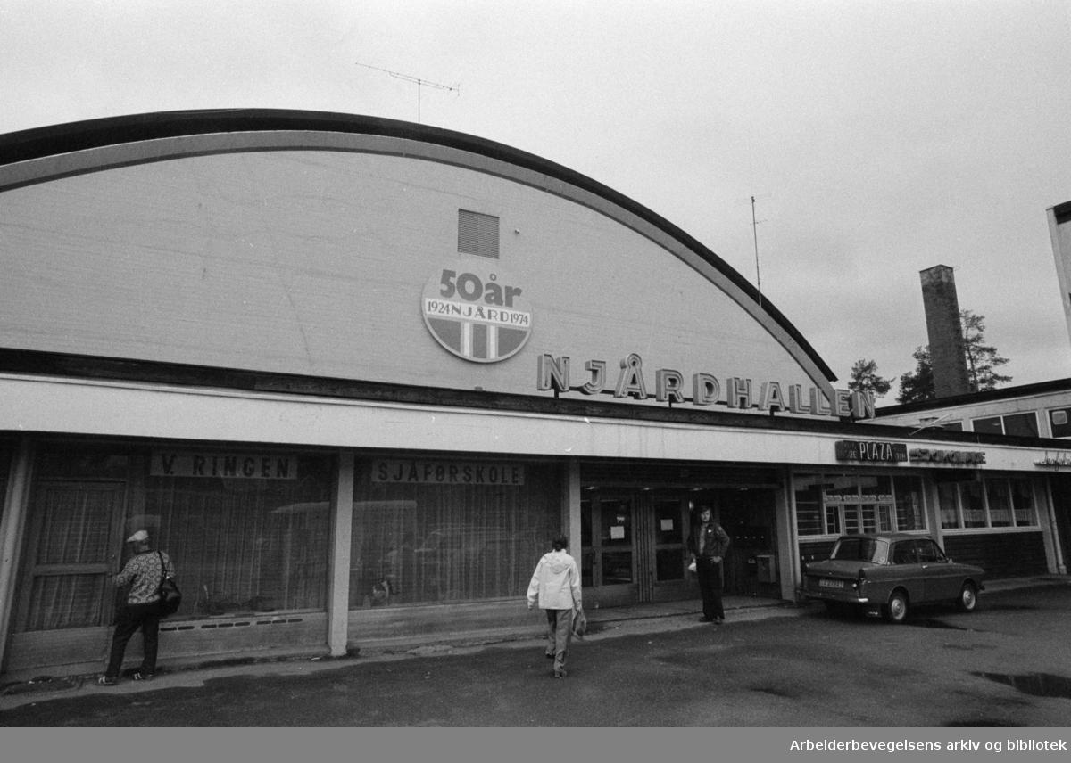 Njårdhallen. September 1974