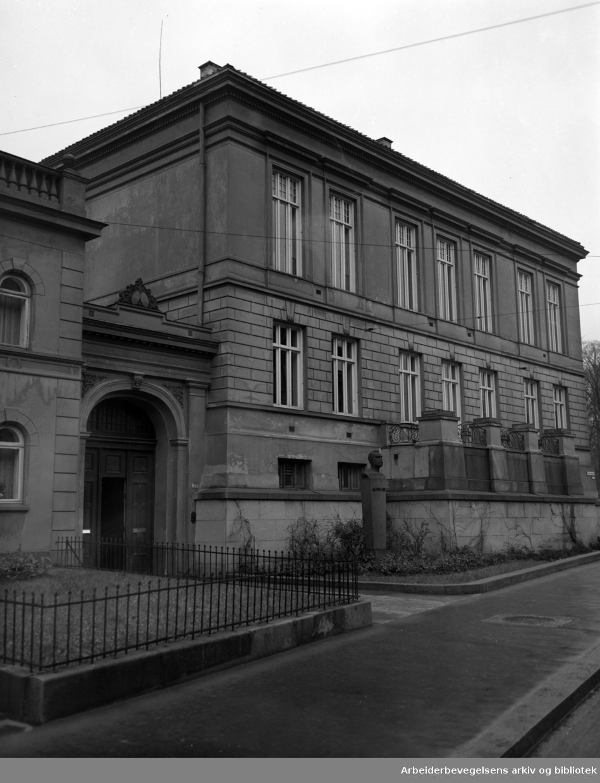 Nobelinstituttet. November 1950