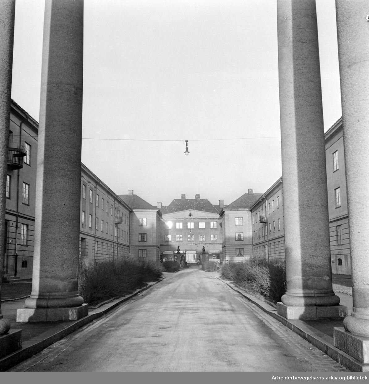 Knud Graahs gate. Desember 1957