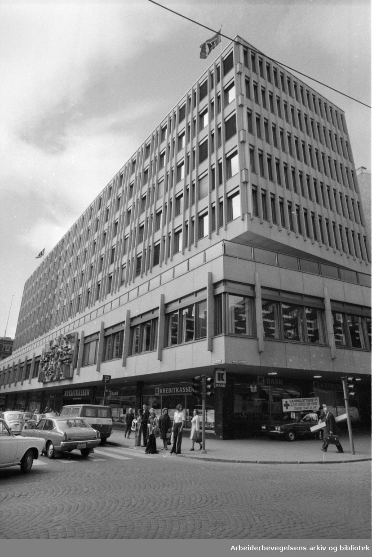 Kreditkassens nybygg. Mai 1974