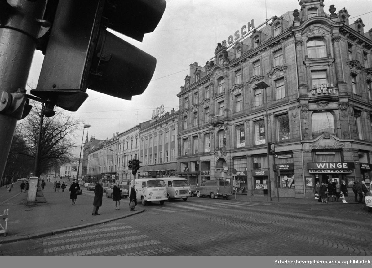 Karl Johans gate. November 1969