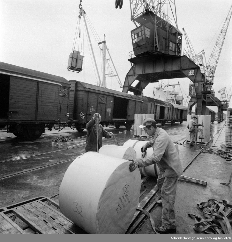 Oslo havna. Mai 1976