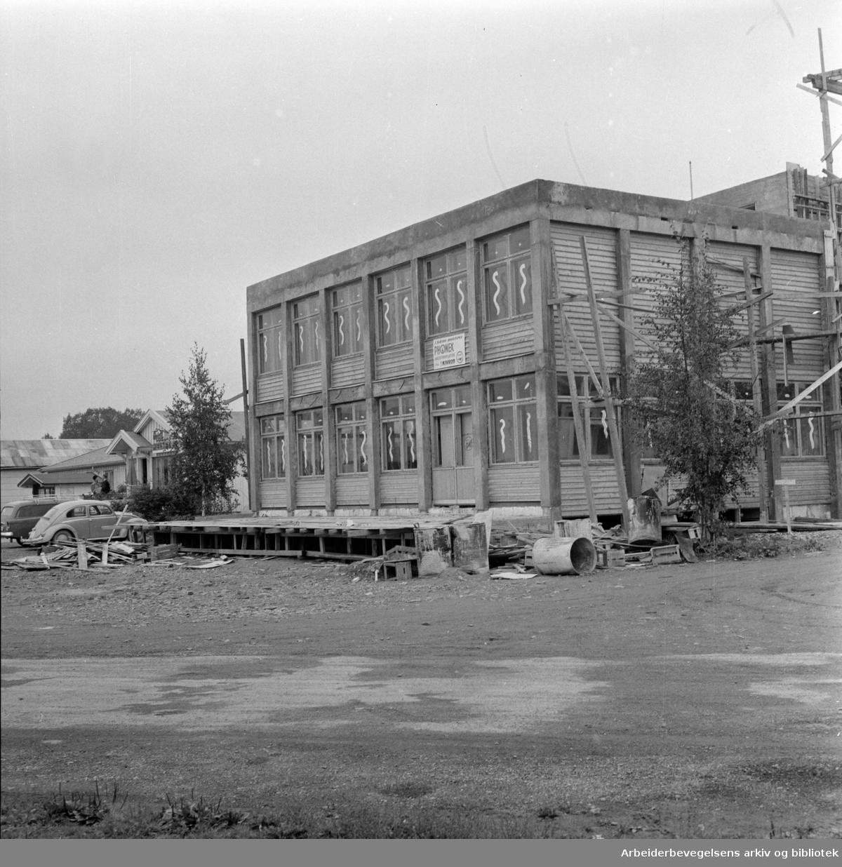 Helsfyr Hotell. Tilbygget. September 1960