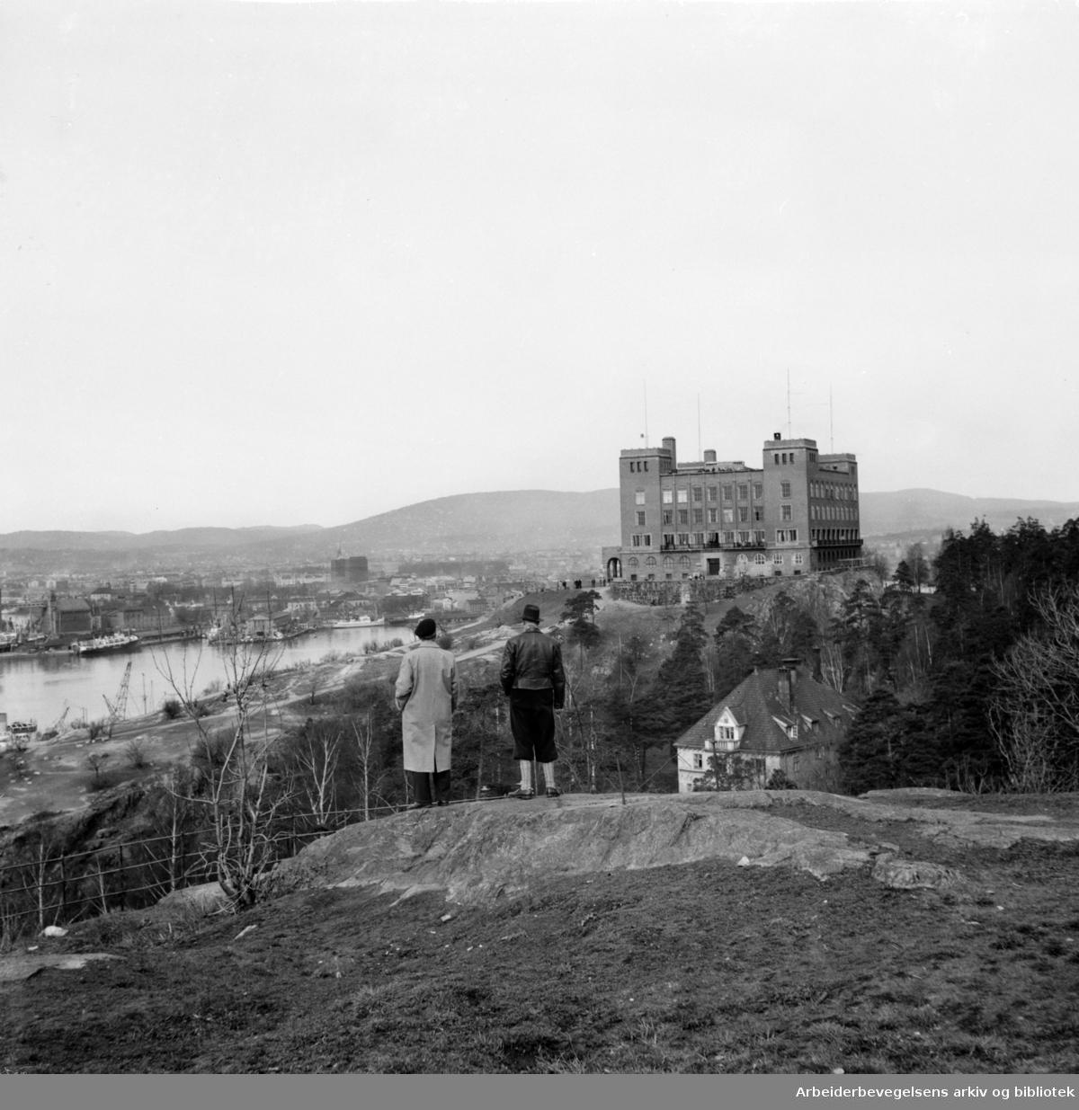 Ekeberg: Sjømannskolen. Januar 1949.