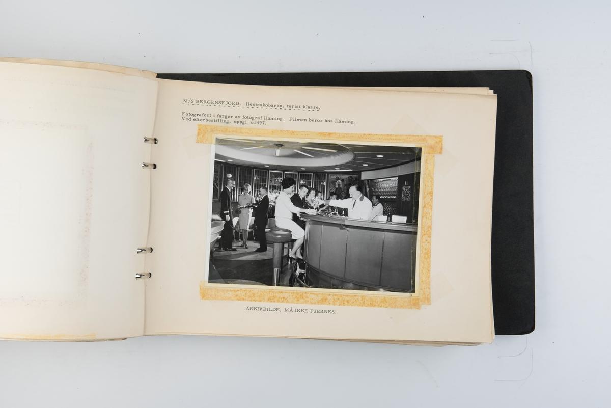Album med fotografier fra sjøsettingen og prøveturen til M/S 'Altafjord' (b.1962) bygget ved Bergens mekaniske verksted