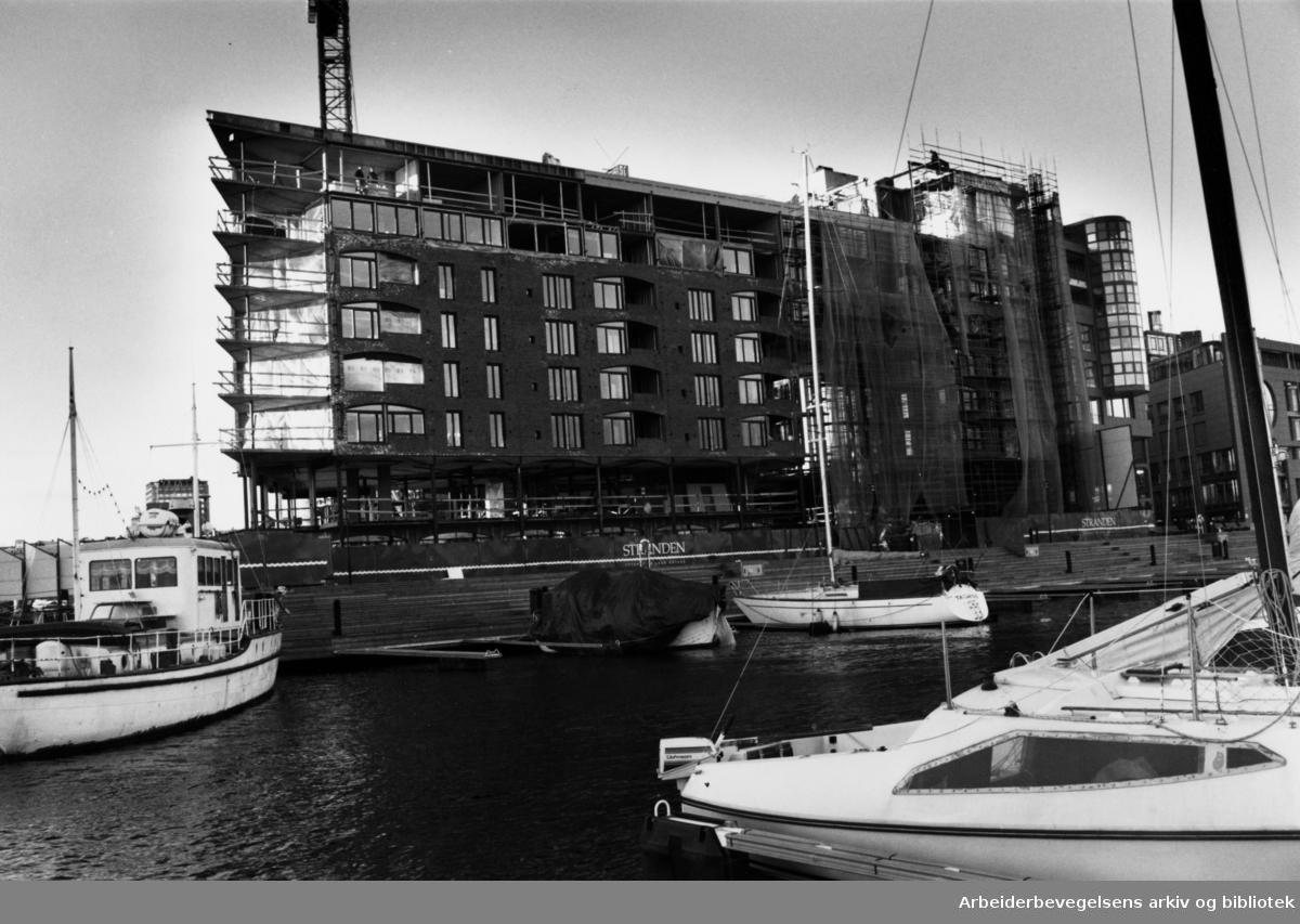 Aker brygge. Mars 1990