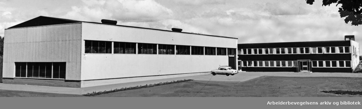Alnabru. Verkstedbygningen til Robertson Nordisk a.s. Juni 1961
