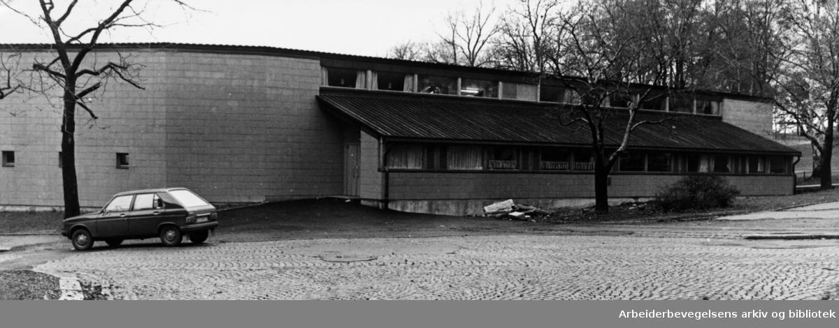 Bjølsen. Lekesenter og ungdomsklubb. November 1977