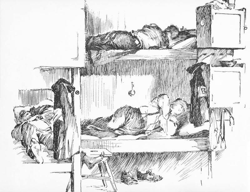 Gunnar Bratlies tegninger gir både verdifull informasjon om hvordan det så ut på Grini og et unikt innblikk i livet i fangenskap.