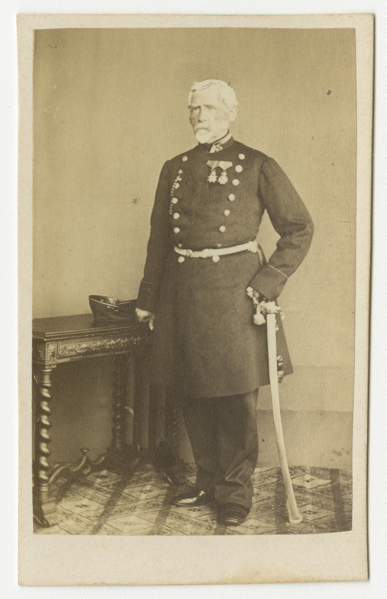 Porträtt av Eric Gustaf Lilliehöök af Fårdala, överste vid Västgöta regemente I 6.