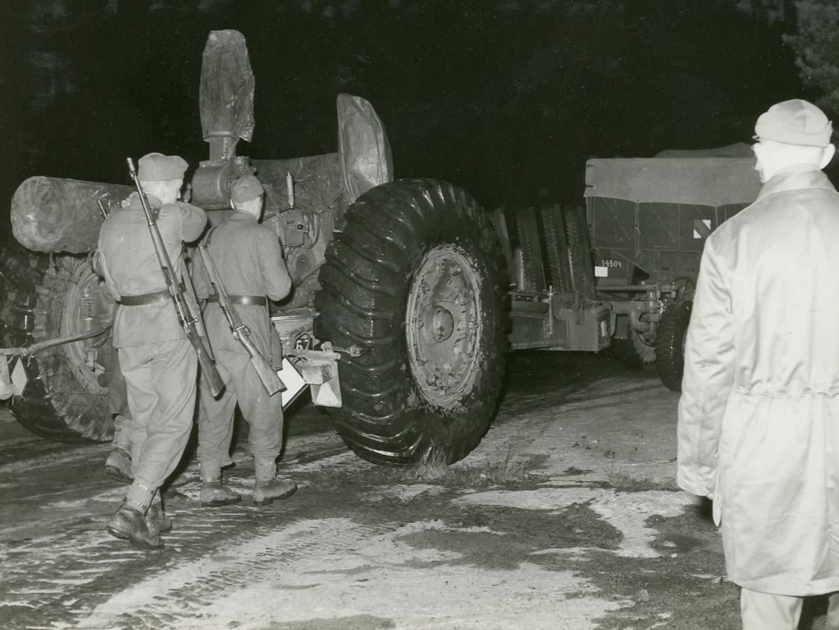 15,2 cm kanon m/37, lavettvagn, under gruppering