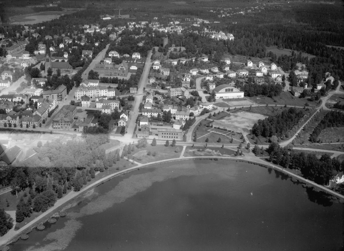 Flygfoto över Nässjö i Jönköpings län. Nr K 266