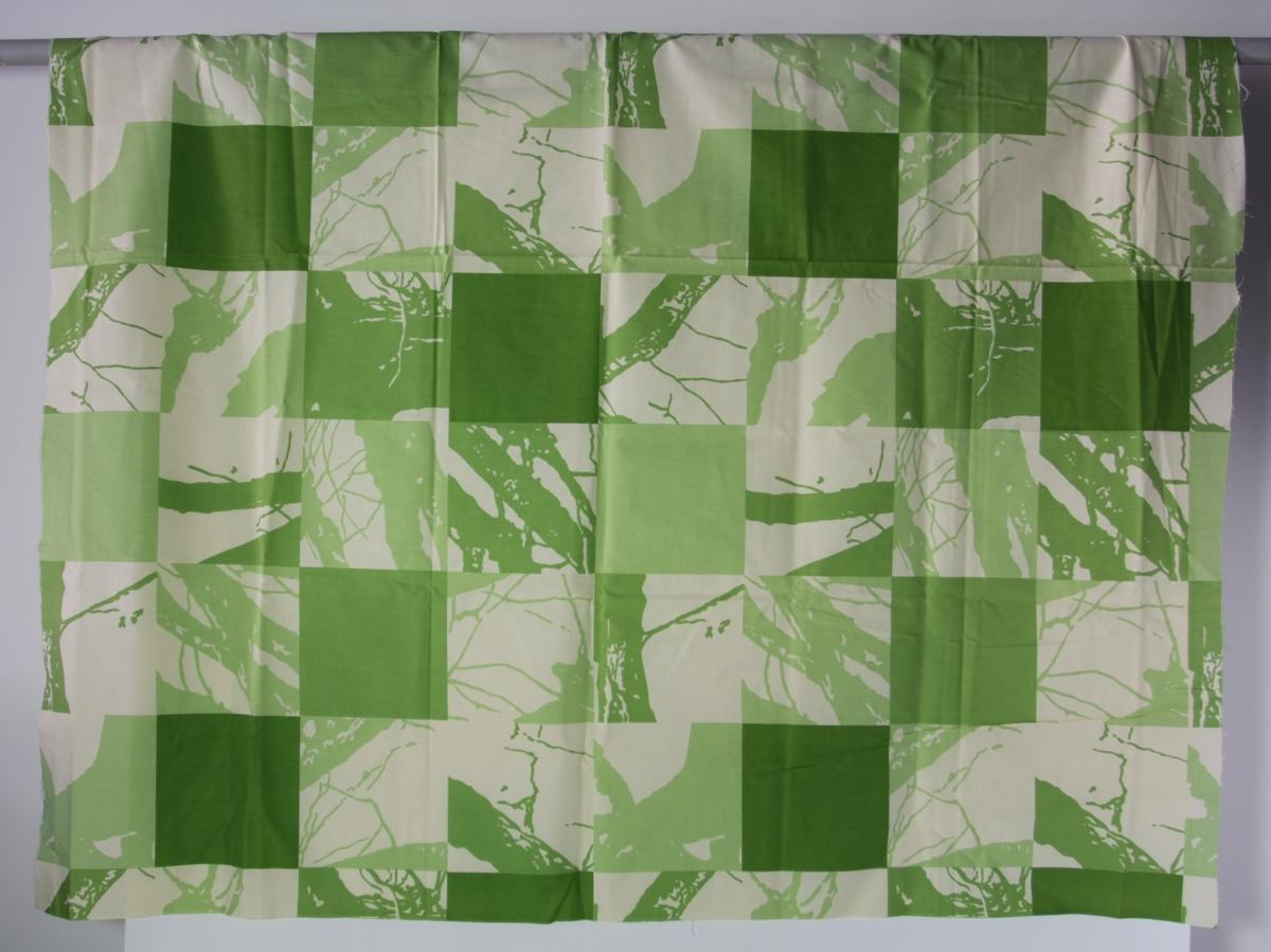 Abstrakt organisk mønster inni firkantet ruter og noen enfargede ruter