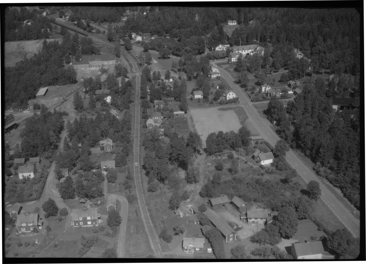 Flygfoto över Kärrgruvan. Tagen 1965 av AB Flygtrafik Dals Långed.