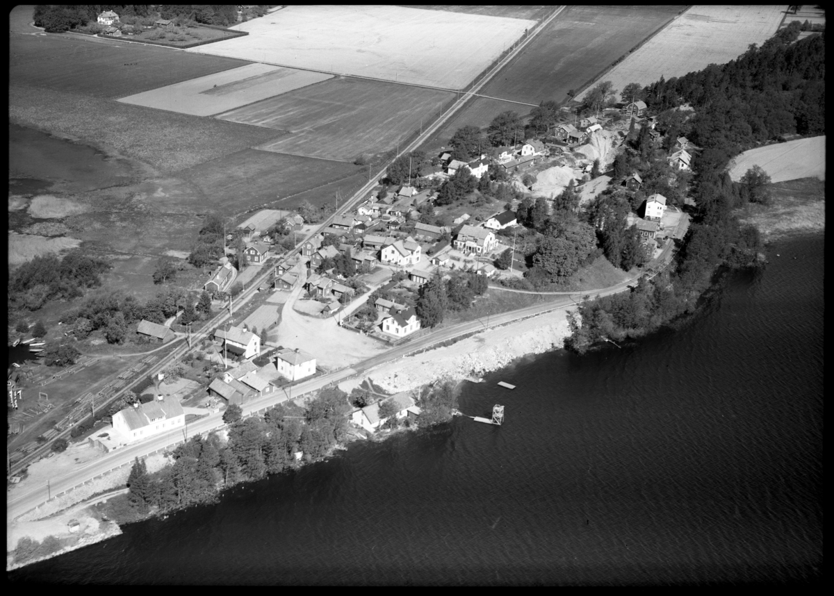 Flygfoto över Borgåsund. Tagen av AB Flygtrafi Dals Långed.