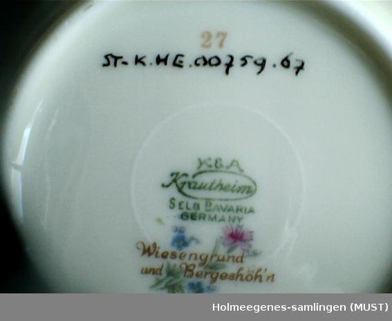 af0d27bb Dessertskål - Holmeegenes-samlingen (MUST) / DigitaltMuseum