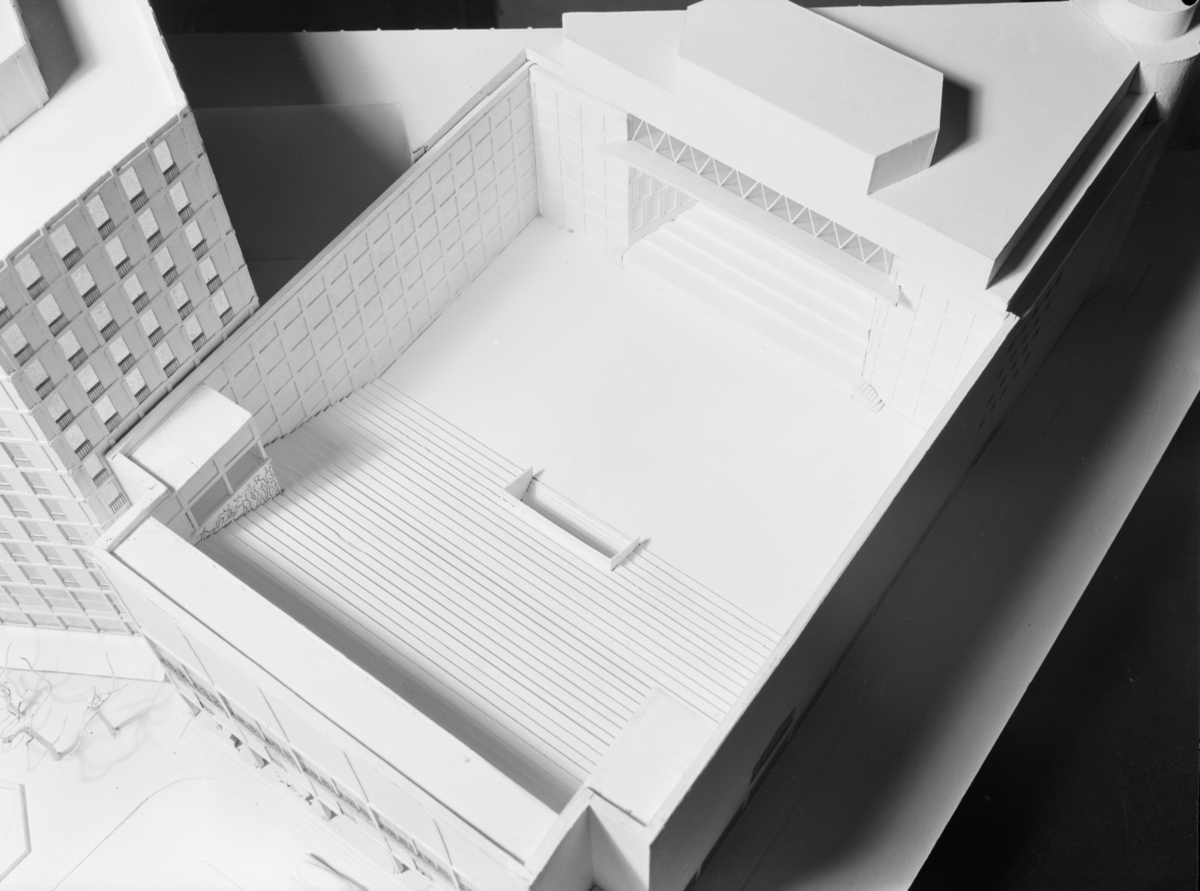 Arkitektmodell av Hotell Viking.