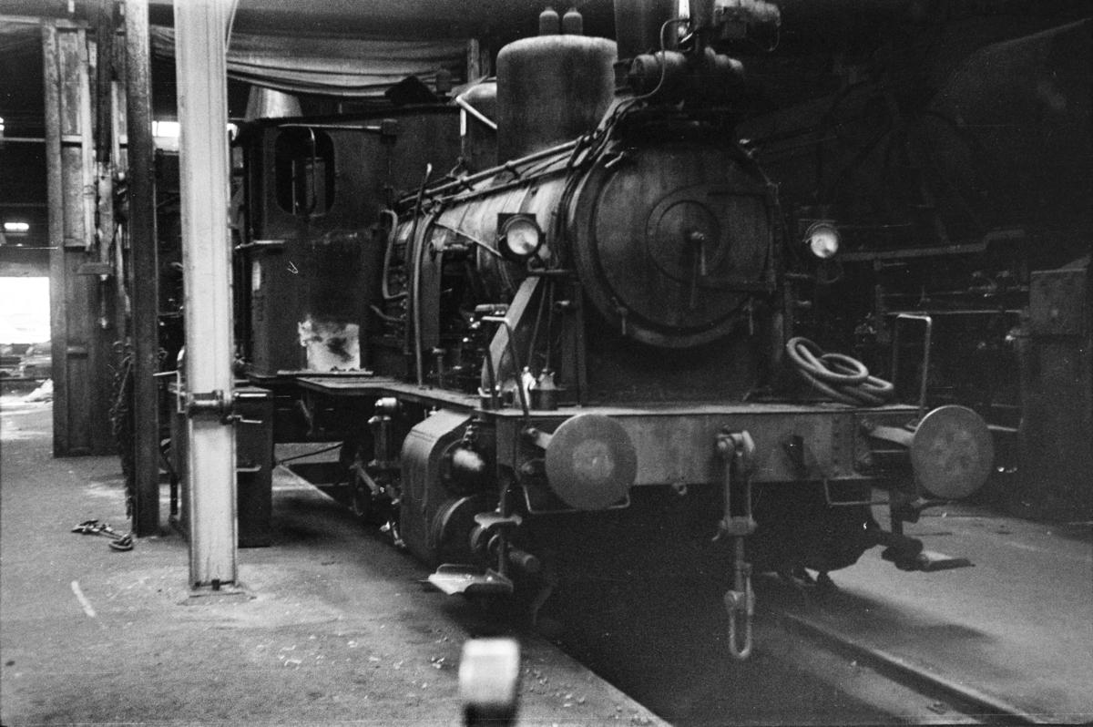 Damplokomotiv type 25d nr. 421 i Gamlestallen i Lodalen i Oslo.