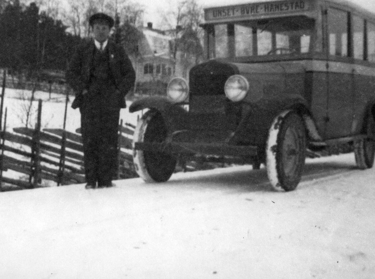 Bussruta Unset-Øvre-Hanestad, 1930.