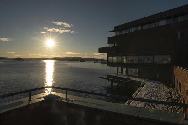 utsikt fra museet mot sør. Foto/Photo