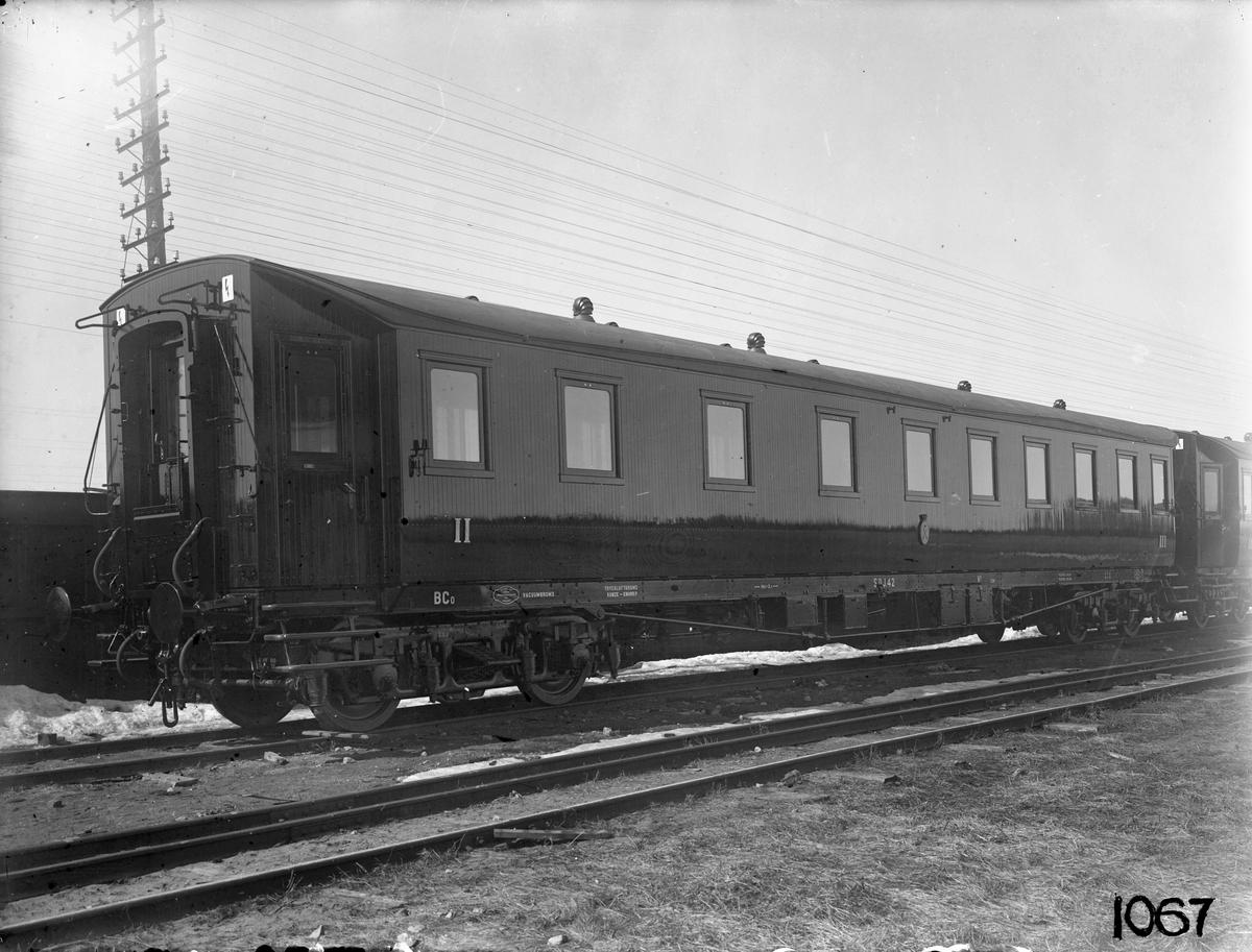 Södra Dalarnes Järnväg, SDJ BCo 42. Vagn byggd i Linköping 1930.