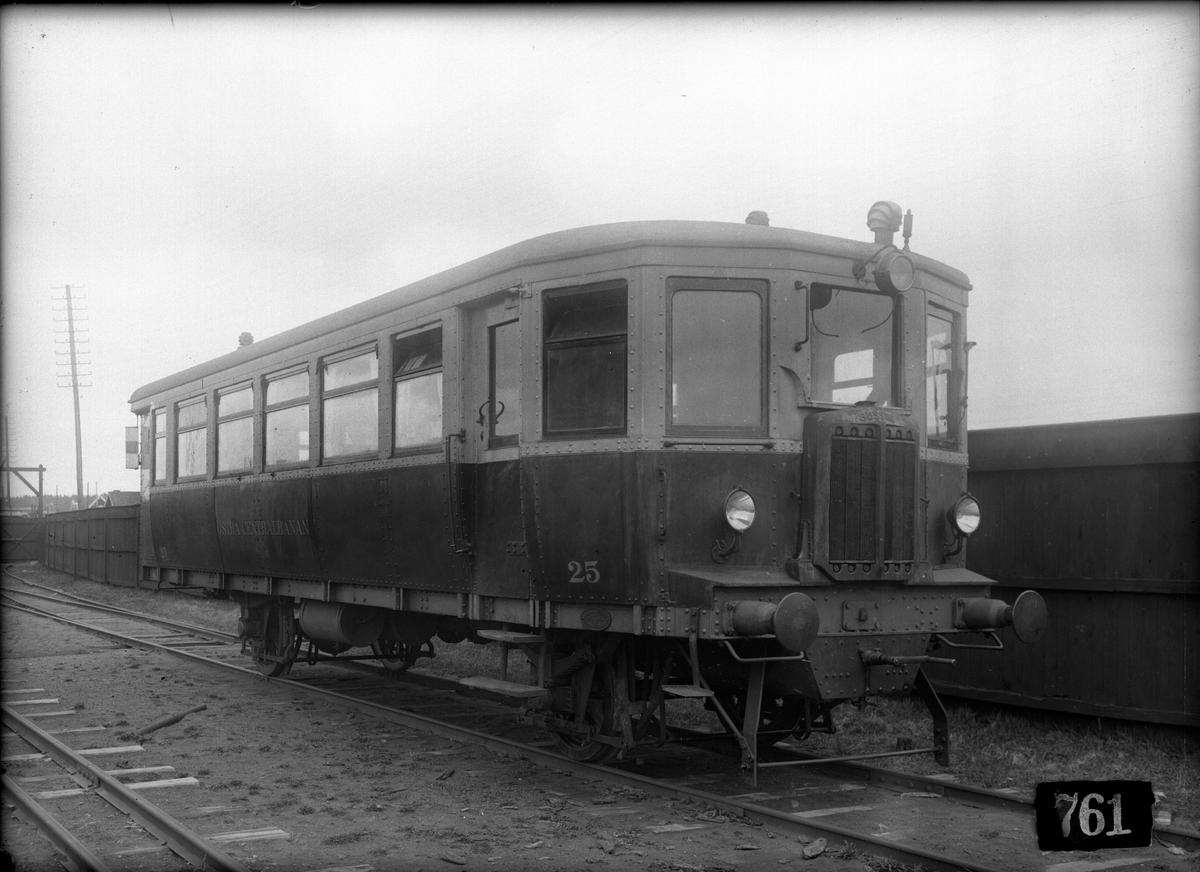 Östra centraljbanans (ÖCJ) motorvagn 25, tillverkad av AB Svenska Järnvägsverkstäderna.