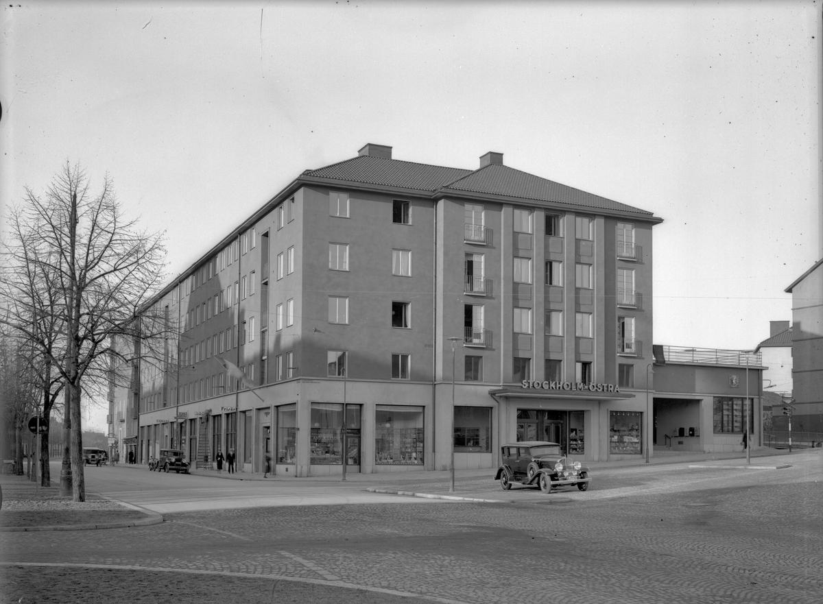 Stockholm ÖstraStation sedd från gatusidan.