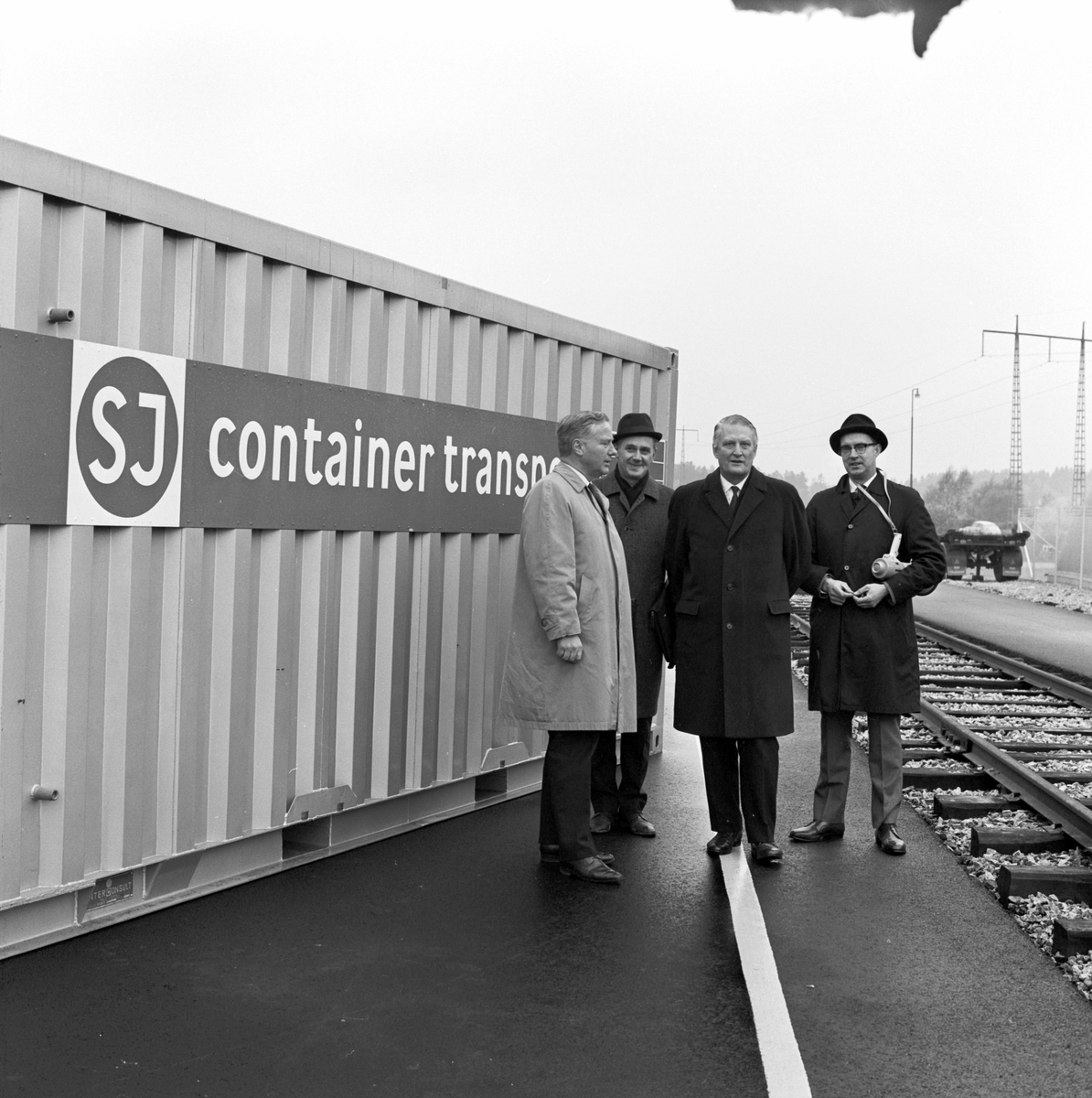 Containerterminal. Generaldirektör Erik Upmark