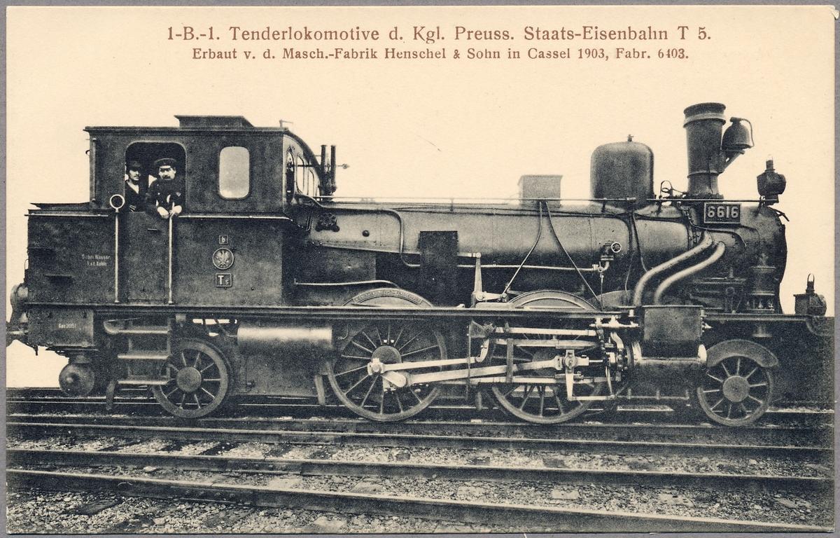 Ånglok Preußische Staatseisenbahnen T5 6616.