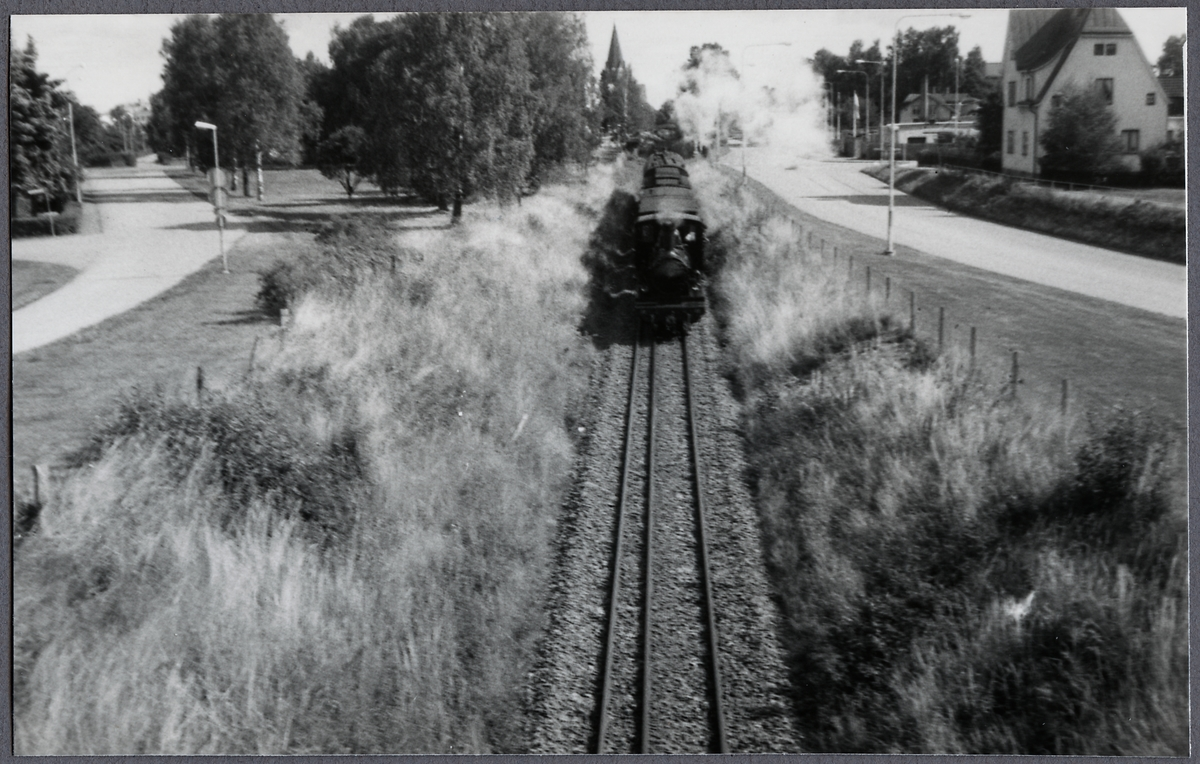 Vid Slipbron i Västervik. Norsholm-Västervik-Hultsfreds Järnväg, NVHJ lok 22.