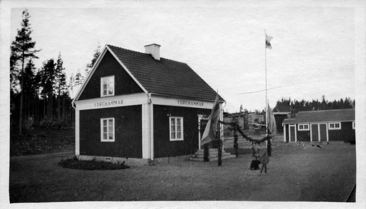Ydrehammars station vid banans invigning.