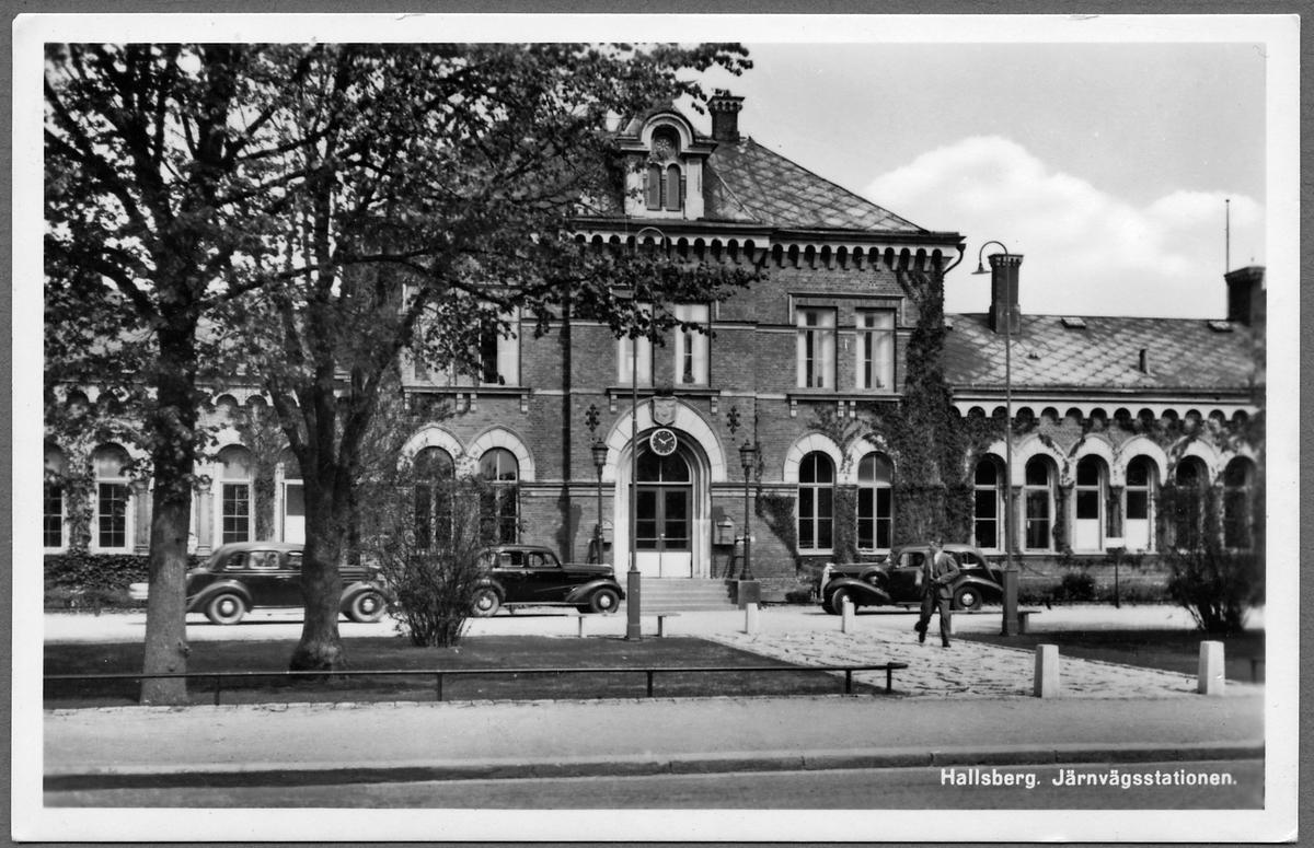 Järnvägsstationen i Hallsberg.